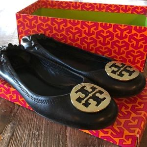 Tory Burch Black Classic Ballet Size 10